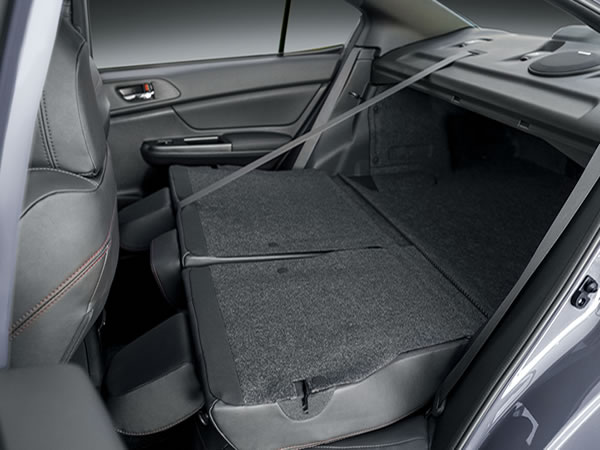 2020 SUBARU WRX and WRX STI 60/40-split Flat-folding Rear Seats
