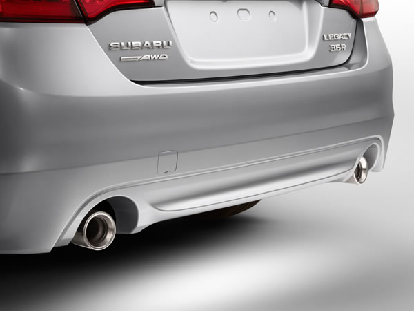 2017 Subaru Legacy Dual Exhaust System with Stainless Steel Tips