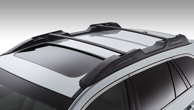 2017 Subaru Outback Roof Rails with Swing-in-place Crossbars