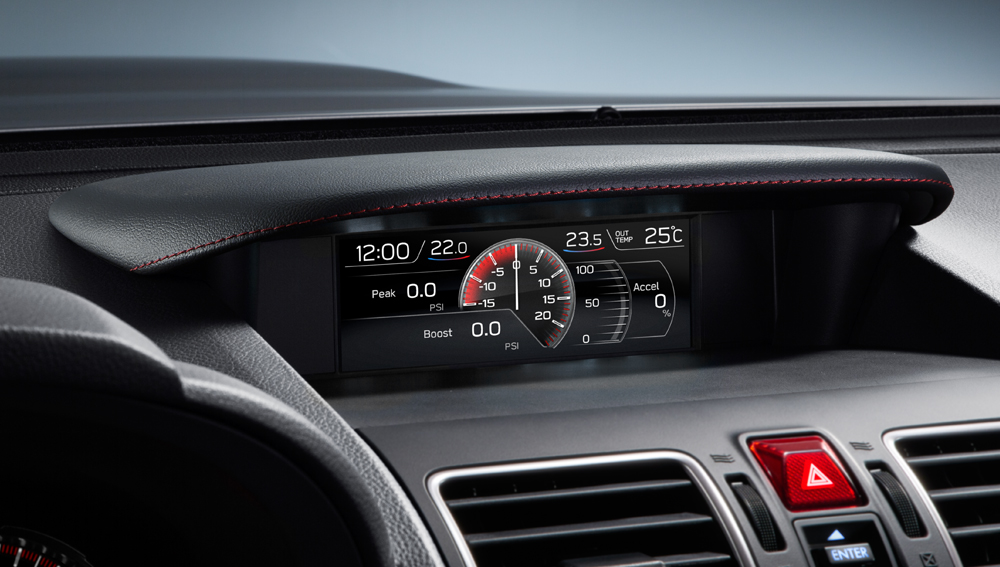 2020 Subaru WRX and WRX STI Informative Multi-Function LCD Colour Display