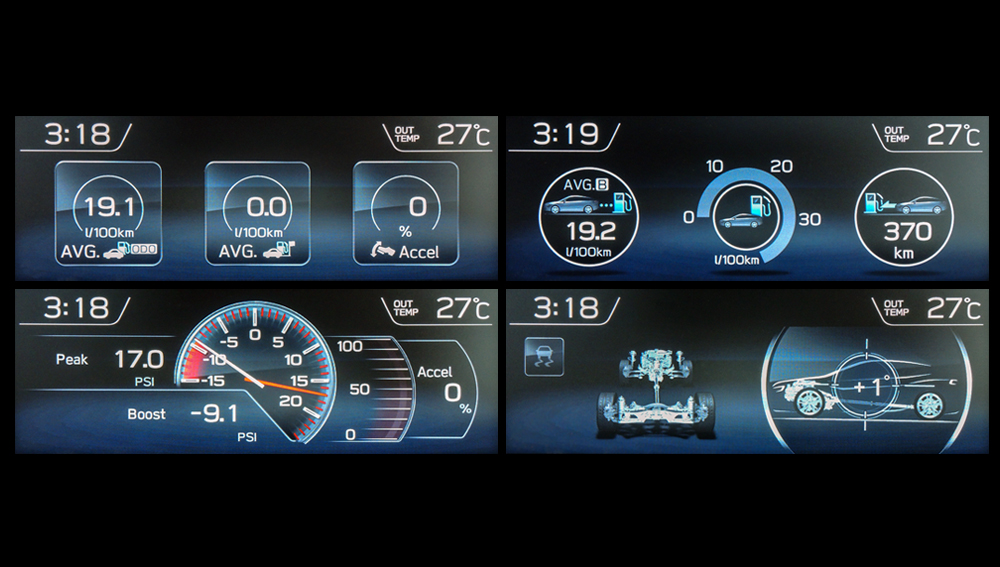 2018 subaru mirrorlink. plain 2018 2018 subaru wrx and sti informative multifunction lcd colour display with subaru mirrorlink
