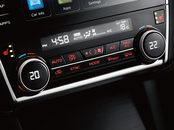 2019 Subaru Legacy Voice-activated Dual-zone Climate Control