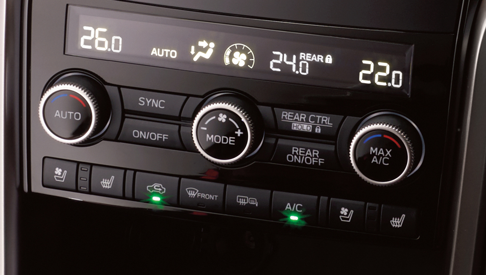 2019 Subaru Ascent Three-Zone Climate Control
