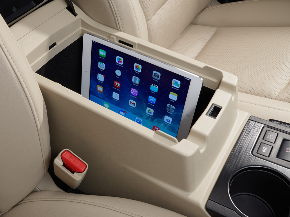 2019 Subaru Outback Storage for mobile devices (iPad<sup>®</sup>, cell phone, media hub)