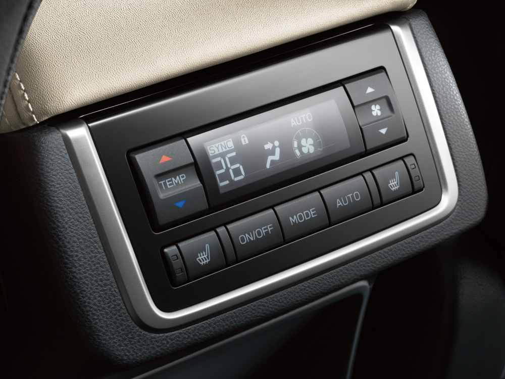 2021 Subaru Ascent Rear HVAC Controls