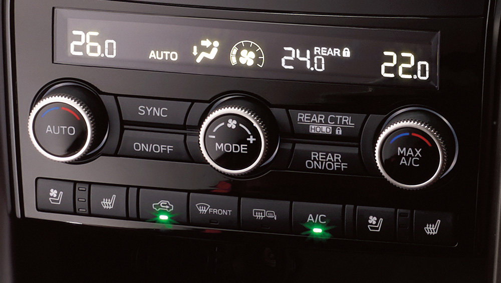 2021 Subaru Ascent Three-Zone Climate Control